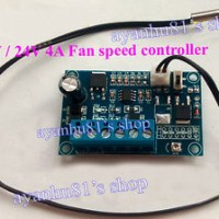12V 24V DC 4A PWM PC CPU Fan Temperature Control Thermostat Speed Cont