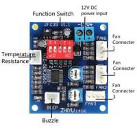DC 12V PWM PC CPU Fan Temperature Control Speed Controller Board 5*4.3