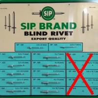 Paku Rivet / Blind Rivet - Merk: SIP / MASTER 649 / 1 Dus @500 buah