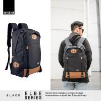 Jual Tas Ransel Daypack Backpack Sekolah Kuliah Laptop Rayleigh Elbe Black Murah