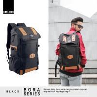 Jual Tas Ransel Daypack Backpack Sekolah Kuliah Laptop Rayleigh Bora Black Murah