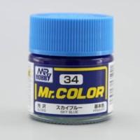 Mr. COLOR C34 SKY BLUE - MR. HOBBY
