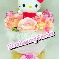 Jual Bucket Hello Kitty (A702) Buket Bunga Boneka Bouquet Wedding Wisuda Murah