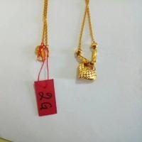 Kalung Emas asli model mainan hati Kadar 700 Emas kadar 22 karat