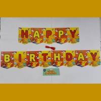 Jual Bunting Flag Happy Birthday Pokemon/ Banner HBD Pokemon/ Pikachu Murah