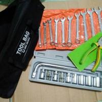 Tool Set Tekiro Tang Kombinasi, Kunci Sok Set, Ring Pas Set, Tool Bag