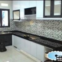 meja dapur granit black gold