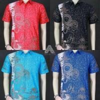 Jual Kemeja batik wayang modern 760 / baju batik pria Murah