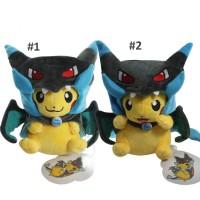 Boneka Pikachu Mega Charizard Lucu - Pokemon Doll / Cute Plush Toy