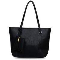 Quincy Label Eve Tote Bag Bonus Tas Kecil - Hitam Limited