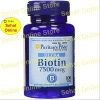 Puritan Biotin 7500 mcg - 100 Vegetarian Tablets Puritan's Pride USA