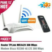 Paket Modem 4G + Router wireless MR3420 3G/4G USB Online camera CCTV