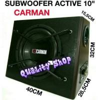 harga Subwoofer Aktif Mobil/basstube Active Carman 10 Inch Suara Mantap Tokopedia.com
