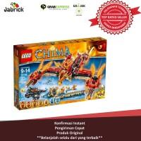 MAINAN ANAK LEGO 46 LEGENDS OF CHIMA FLYING PHOENIX FIRE TEMPLE