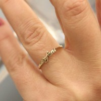 Cincin Nama Emas Tua Asli Small Cantik |Cincin Emas |Cincin Kawin Unik