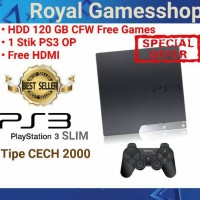 PS3 Playstation 3 Slim 120gb CFW / Multiman Seri 20xx ( 1 Stik )