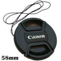 Lenscap atau Lens Cap Canon 58mm tutup lensa canon 18-55mm