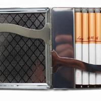 Jual Sale Kotak Rokok + Pemantik / Korek Api (Cigarette Case Box + USB Murah
