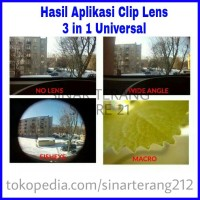LENSA Kamera HP Tambahan UNIVERSAL CLIP LENS Jepit Additional Photo