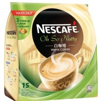 NESCAFE Oh So Nutty White Coffee Hazelnut 15s x 36g