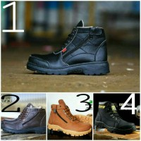 Jual sepatu boots caterpillar safety + safety shoes caterpillar murah Murah
