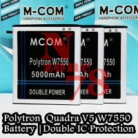 BATERAI POLYTRON QUADRA V5 W7550 PL-7W6 DOUBLE POWER PROTECTION