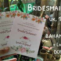 wedding bridesmaid card - kartu lamaran