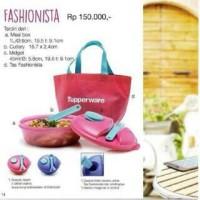 Jual Tupperware Fashionista (pink)/ Lunch set/ Kotak Makan Murah