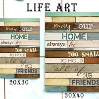 Jual Dekorasi Rumah Unik Poster Kayu 30x40 - May Our Home Murah