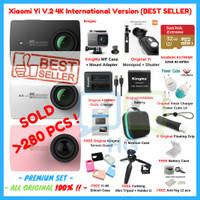 Jual Paket Xiaomi Yi 2 II 4K PREMIUM Set Lengkap Action Camera ORIGINAL Murah