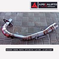Header Knalpot VESPA PIAGGIO GTS 150 3V / Sprint 150 3Vi / Lx125 i-get