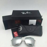Kacamata Rayban CARAVAN Silver w/ MIRROR Lens