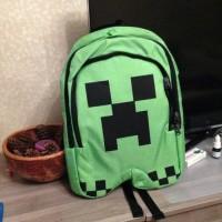 PO Tas Sekolah Minecraft / Minecraft Backpack - Free Creeper Plush