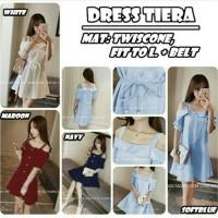 dress pendek / mini dress sweet sabrina midi tiara fashion style