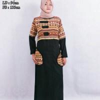 Cintia tenun dress black tzk012