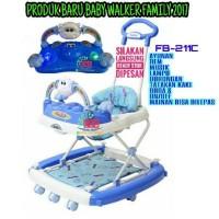 NEW 2017 Family Baby Walker Seri Sapi FB 211C 211 Musik Ayunan Lampu