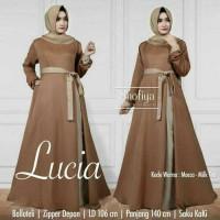 Baju Pakaian Wanita Gamis Maxi Lucia Dres Mocca-Milktea