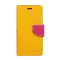 Motorola Moto G Mercury Fancy Flip Case Casing Cover - Kuning Pink