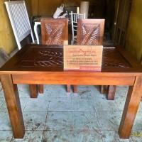 Set Meja Makan Jati Balero Banana Leave Free Ongkir se Jawa Bali