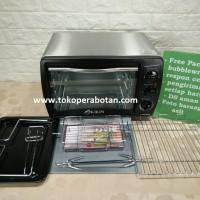 Oven Listrik Kirin 190RA (19lt) + bonus fish grill