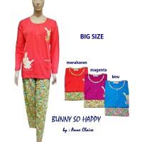 BUNNY SO HAPPY Baju Tidur/Piyama Dewasa Big Size ANNE CLAIRE