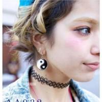 Jual KP3833 Kalung Tattoo Fashion Choker Weave AA032 KODE TYR3889 Murah