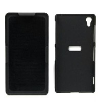 Soldier Armor Bumper Hard Soft Case Casing Black for Sony XPERIA Z1