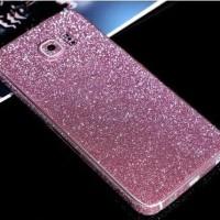 Glitter Skin Garskin Pelindung HP Cover Casing Samsung Galaxy S6 FLAT