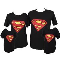 Jual Baju Kaos Pasangan Keluarga Couple Family Anak Ayah Bunda Superman Murah