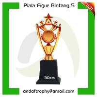 "Piala/Trophy Mini Figur ""Bintang 5"""