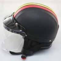 Helm Chip Jungli Bogo Visor Flat Rasta - Bonus Sarung Backpack