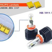 Lampu LED Mobil X1 Philips ZES Lumileds H8 H11 H16 45W 5500 Lumens