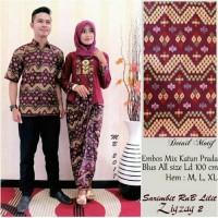 Jual Batik Couple Lilit Zigzag Marun Murah