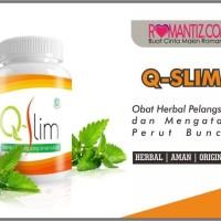 Q-Slim Obat Herbal Penurun Berat Badan / Pelangsing / Diet